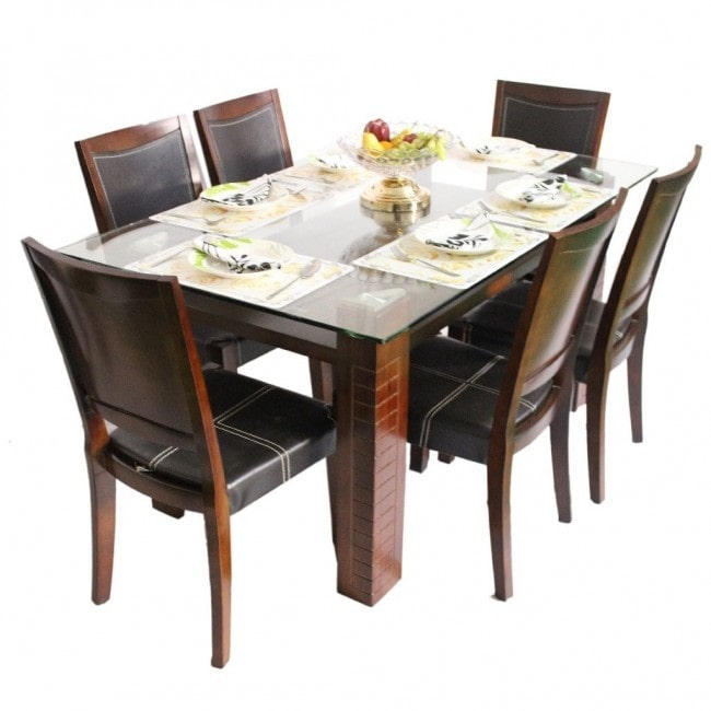 DERBY – WOOD DINING TABLE ( 1 + 6 )-min