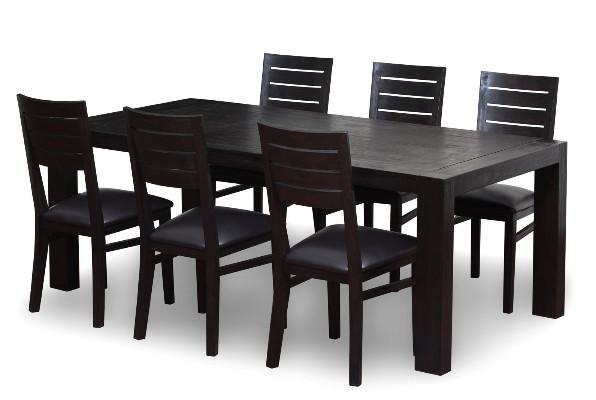 ROMAN – WOODEN TOP DINING SET ( 1 + 6 )-min