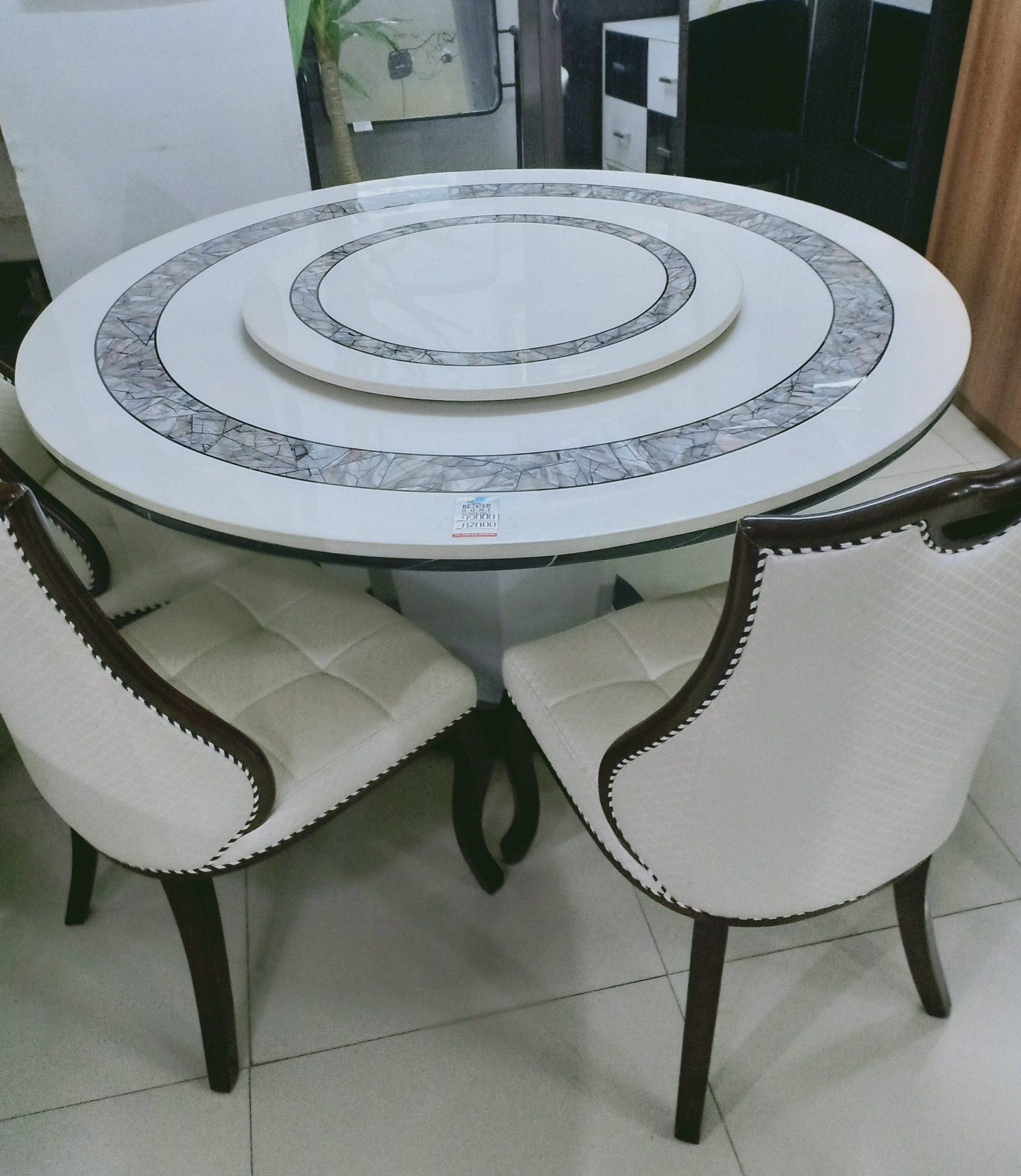 Yelta Dining Set Betterhomeindia Round Marble Dining Set Ahmedabad Imported Marble Dining Set Ahmedabad