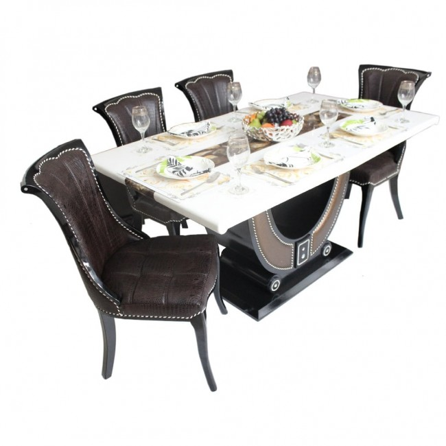 verona marble diningset