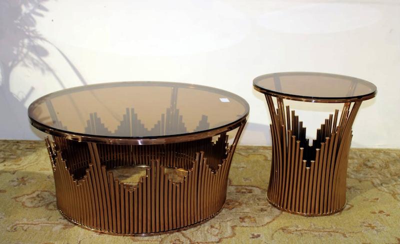sunflower bronze centre table betterhomeindia