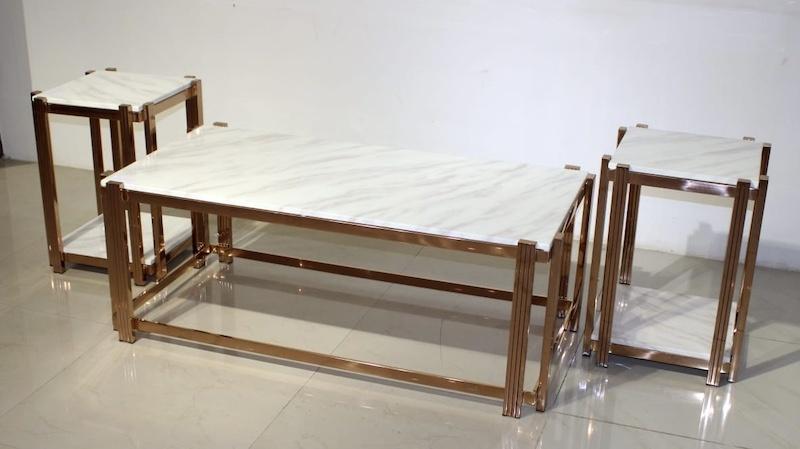 oscar white marble top centre table-betterhomeindia